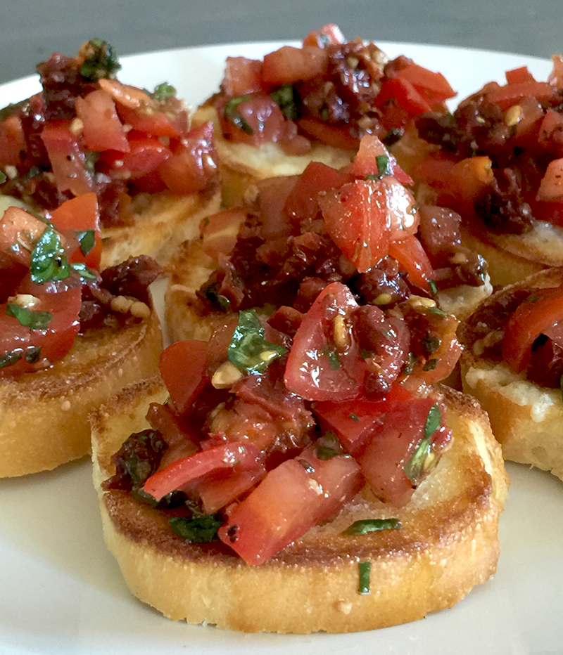 The Absolute Best-Ever Double Tomato Bruschetta Recipe | Inspired ...